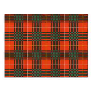 Bruce Scottish Tartan Postcard