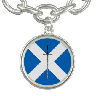 Bruce Sword on Saltire Charm Bracelets