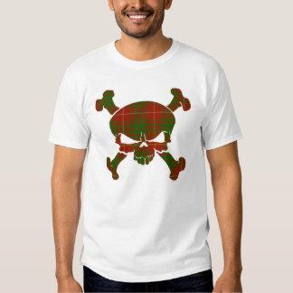 Bruce Tartan Skull No Banner Tee Shirts
