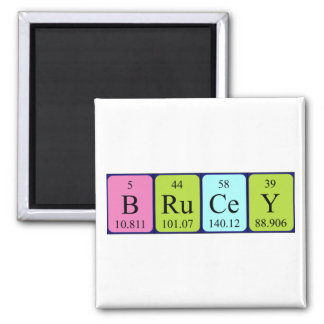 Brucey periodic table name magnet