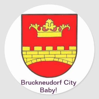 Bruckneudorf town center baby classic round sticker