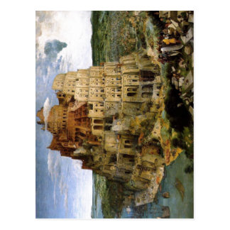 Bruegel d. ?., Pieter Turmbau zu Babel Tower of Ba Postcard