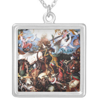 "Bruegel's ""The Fall Of The Rebel Angels"" (1562) Silver Plated Necklace"
