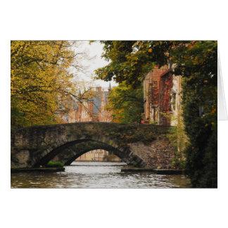 Bruges, Belgium Canals Card