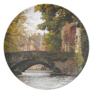 Bruges, Belgium Canals Dinner Plates