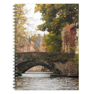 Bruges, Belgium Canals Spiral Notebooks