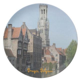 Bruges, Belgium Party Plates