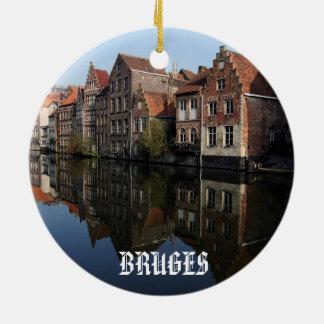Bruges Belgium Scenic Circle Ornament