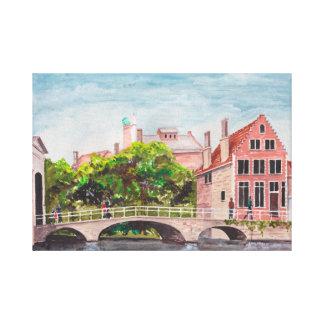 Bruges Bridge by Farida Greenfield Canvas Print