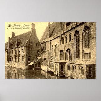 Bruges - Hopital St Jean Poster