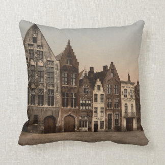 Bruges Library, Belgium Throw Pillow