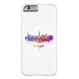 Bruges skyline in watercolor barely there iPhone 6 case