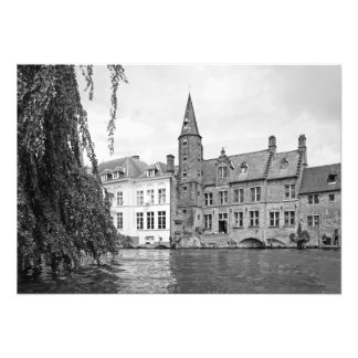 Bruges - the union of the city and the river photo print