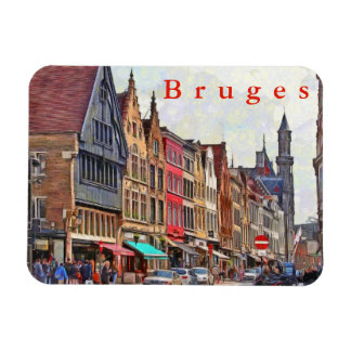 Bruges. Town view. Magnet