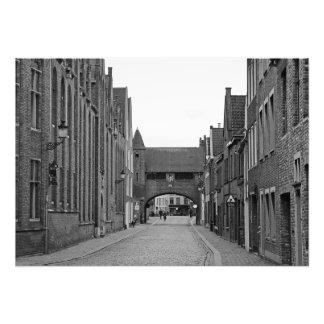 Bruges. View of the medieval street Photo Print