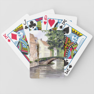Bruges Watercolor Painting by Farida Greenfield Bicycle Playing Cards