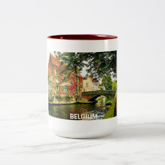BRUGGE, BELGIUM Two-Tone COFFEE MUG