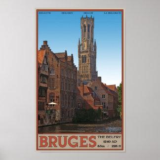 Brugge - The Belfry Poster