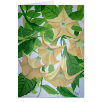 Brugmansia Painting Card