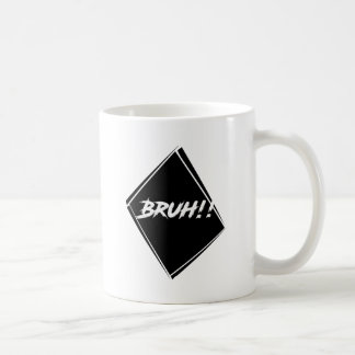 """Bruh"" Word Design Coffee Mug"