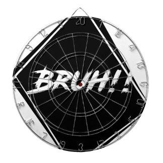 """Bruh"" Word Design Dartboard"