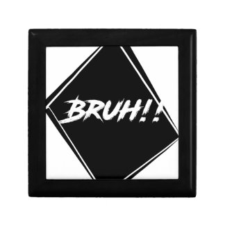 """Bruh"" Word Design Gift Box"