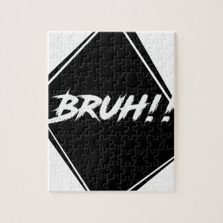 """Bruh"" Word Design Jigsaw Puzzle"