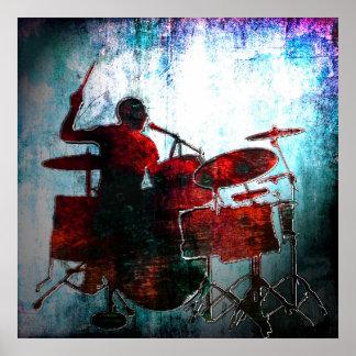 Bruit de batteur de couleur, Copyright Karen J Wil