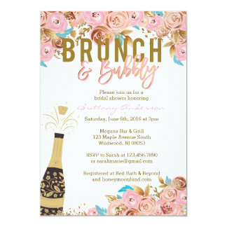 Brunch and Bubbly Bridal Shower Invitations
