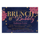 Brunch and Bubbly Glitter Watercolor Shower Invite