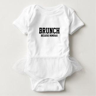 Brunch Because Mimosas Baby Bodysuit