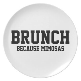 Brunch Because Mimosas Party Plates