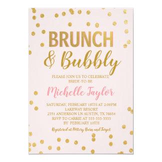 Brunch & Bubbly Invitation   Pink & Gold