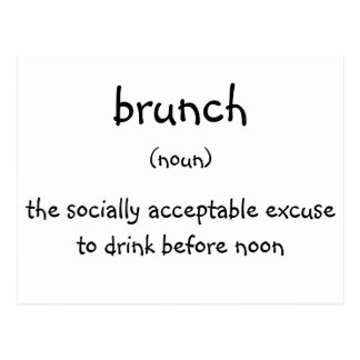 brunch postcard