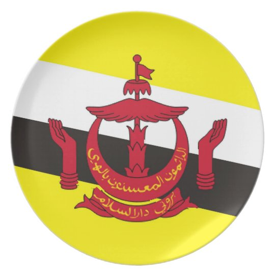 brunei country flag plate