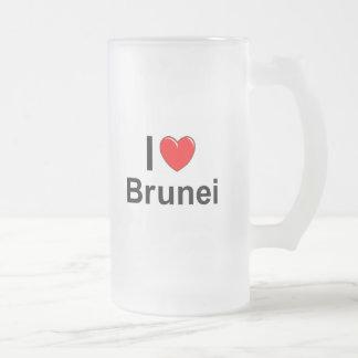 Brunei Frosted Glass Beer Mug