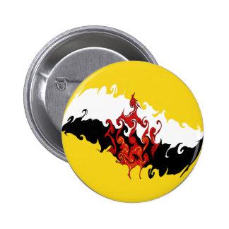Brunei Gnarly Flag Pinback Buttons