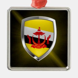 Brunei Metallic Emblem Metal Ornament