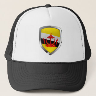 Brunei Metallic Emblem Trucker Hat