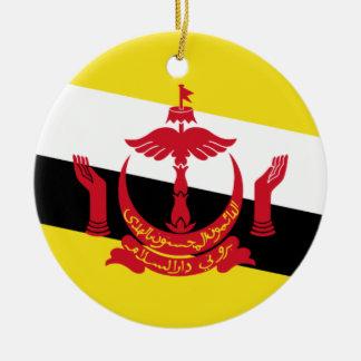 Brunei National World Flag Ceramic Ornament