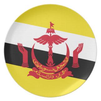 Brunei National World Flag Plate