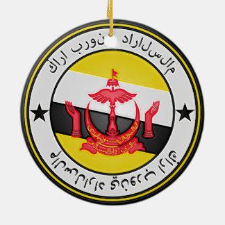 Brunei  Round Emblem Ceramic Ornament