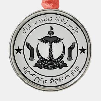 Brunei  Round Emblem Metal Ornament