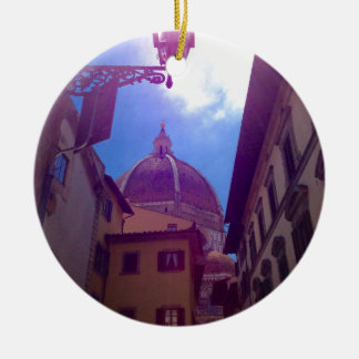 Brunelleschi Dome in Florence, Italy Ceramic Ornament