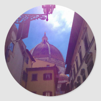Brunelleschi Dome in Florence, Italy Classic Round Sticker