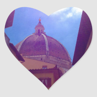 Brunelleschi Dome in Florence, Italy Heart Sticker