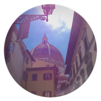 Brunelleschi Dome in Florence, Italy Plate