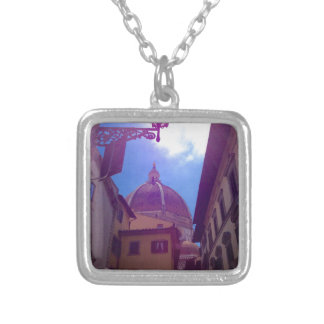 Brunelleschi Dome in Florence, Italy Silver Plated Necklace