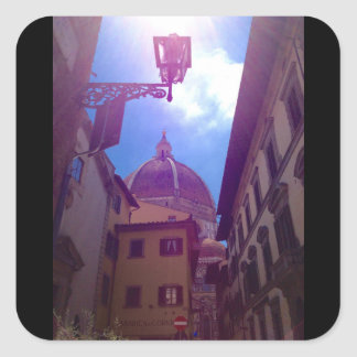 Brunelleschi Dome in Florence, Italy Square Sticker