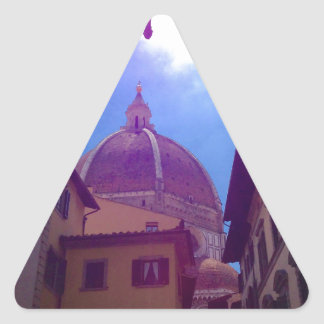 Brunelleschi Dome in Florence, Italy Triangle Sticker